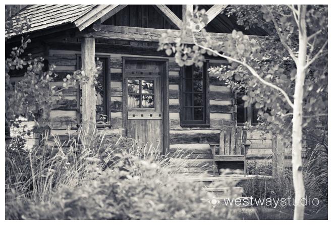 Cabin at the Base of the Grand Teton Mountain Range