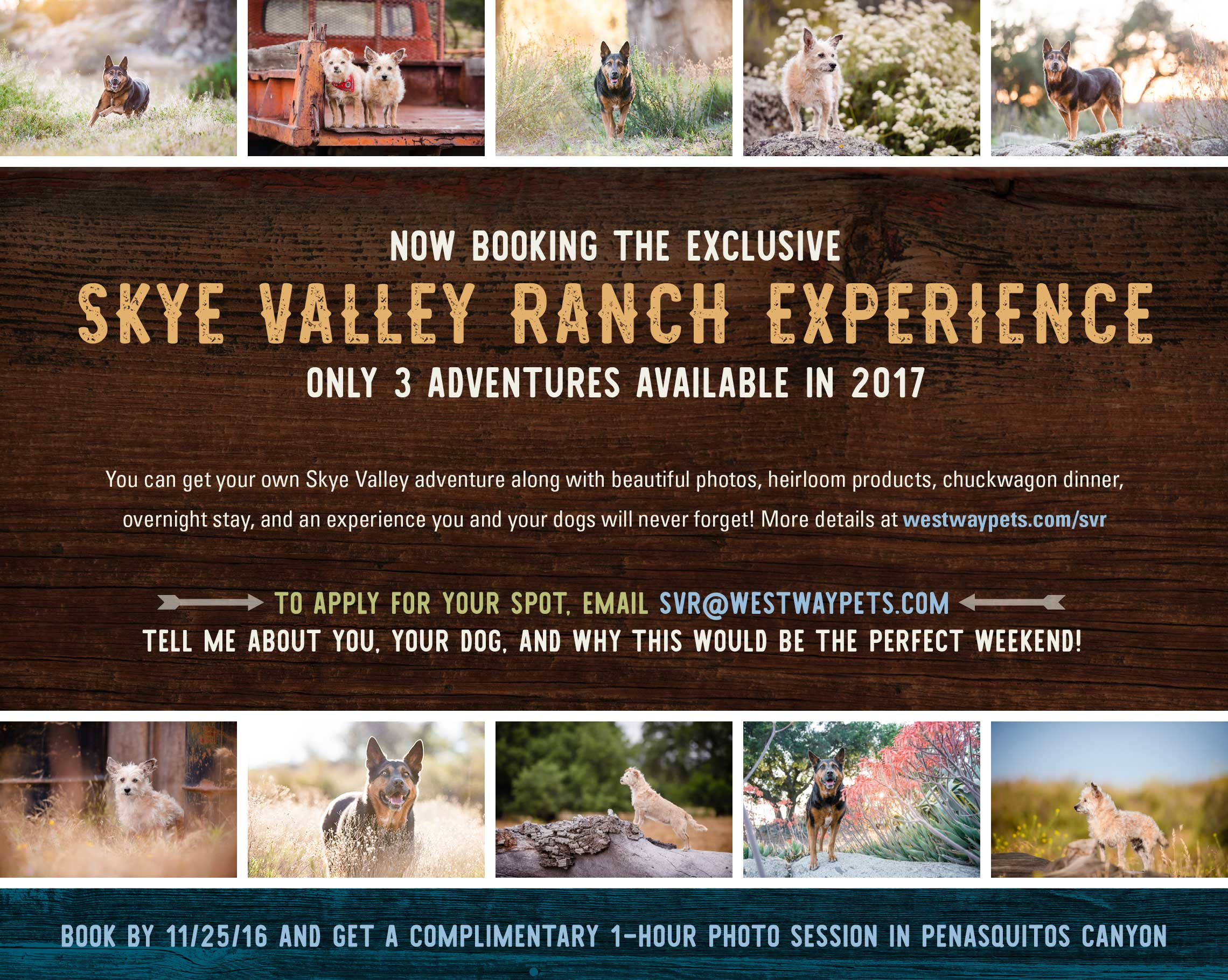 Now booking the 2017 Skye Valley Ranch Experience